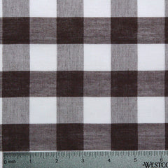 Cotton/Polyester Gingham Brown - NY Fashion Center Fabrics