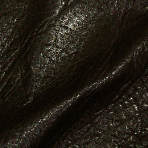 Bubble Lamb Leather Brown - NY Fashion Center Fabrics