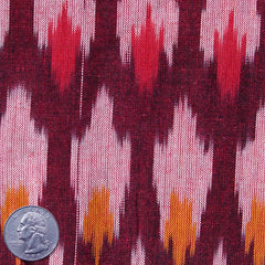 Cotton Ikat Burgundy Wine - NY Fashion Center Fabrics