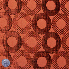 Poly/Rayon Blend Chenille Upholstery Jacquard Burnt Orange