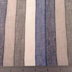 Multi Even Stripe Linen C 2009 31 Grey Blue - NY Fashion Center Fabrics