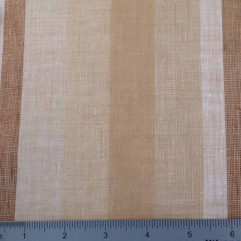 Multi Wide Stripe Linen C 5600 08 Desert - NY Fashion Center Fabrics