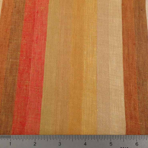 Multi Wide Stripe Linen C 5600 10 Autumn - NY Fashion Center Fabrics
