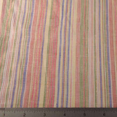 Metallic Multi Stripe Linen Fabric CO 11 Blueberry Sunrise - NY Fashion Center Fabrics