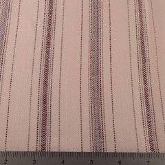 Metallic Multi Stripe Linen Fabric CO 14 Blackberry Cream - NY Fashion Center Fabrics