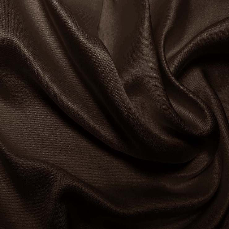 Silk Double Face Satin Chocolate Brown