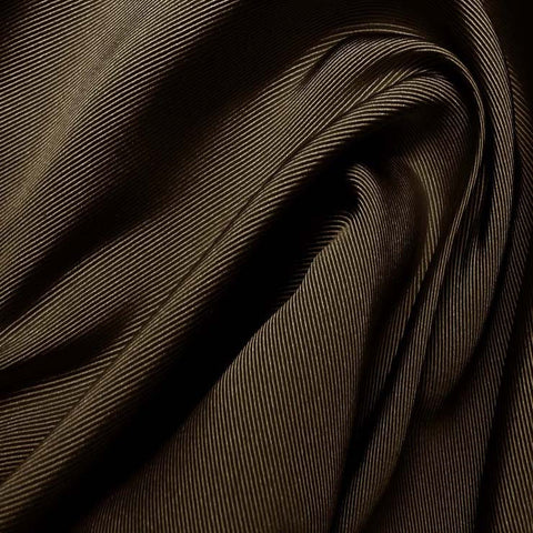 Silk Faille Chocolate Brown