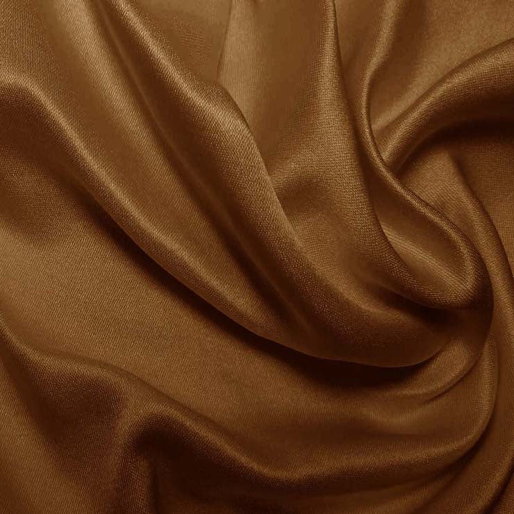 Silk Double Face Satin Coffee