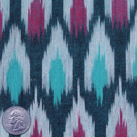 Cotton Ikat Cool Water - NY Fashion Center Fabrics