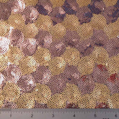 Circle Design Sequin Mesh Copper Gold - NY Fashion Center Fabrics