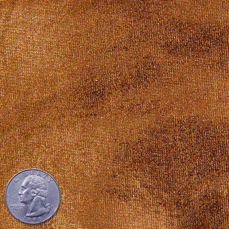 Stretch Metallic Spandex Copper Fabric By The Yard Ny