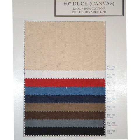 Cotton 12/14oz Duck Fabric Color Card Cotton 12oz Duck Color Card - NY Fashion Center Fabrics