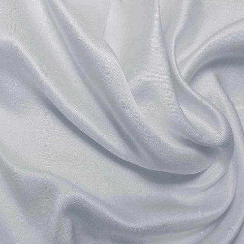 Silk Double Face Satin Crystal Blue