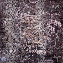 Snakeskin Printed Sequin Spandex Death Valley