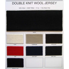 Double Knit Wool Jersey Fabric Color Card Double Knit Wool Jersey Color Card - NY Fashion Center Fabrics