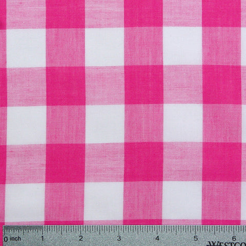 Cotton/Polyester Gingham Fuchsia - NY Fashion Center Fabrics
