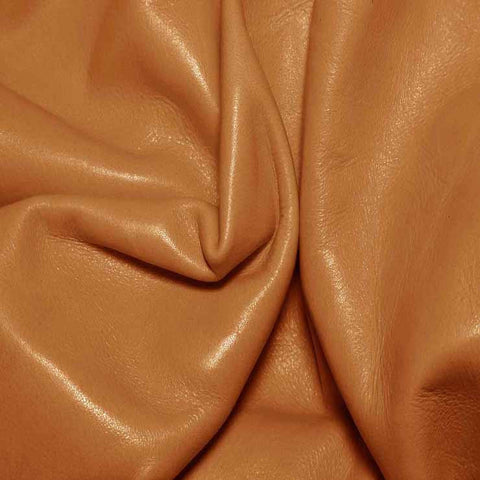 Aniline Calf Leather GC306 Caramel - NY Fashion Center Fabrics