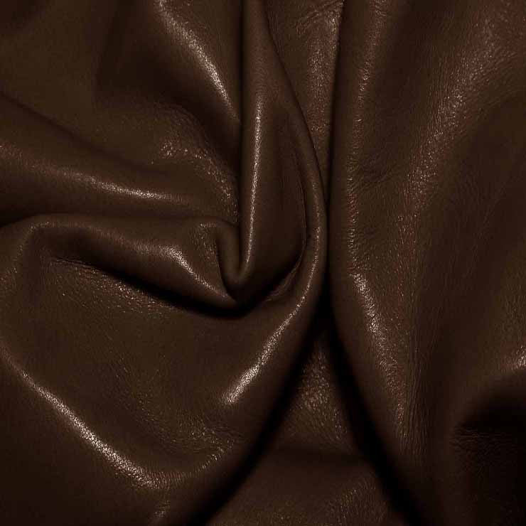 Aniline Calf Leather GC308 ChocolateBrown - NY Fashion Center Fabrics
