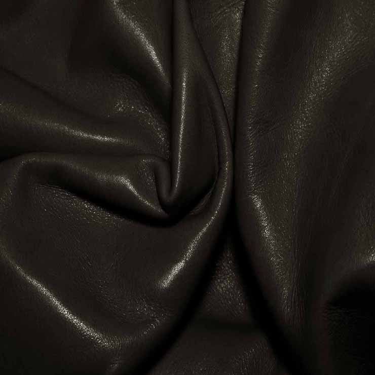 Aniline Calf Leather GC312 DarkBrown - NY Fashion Center Fabrics