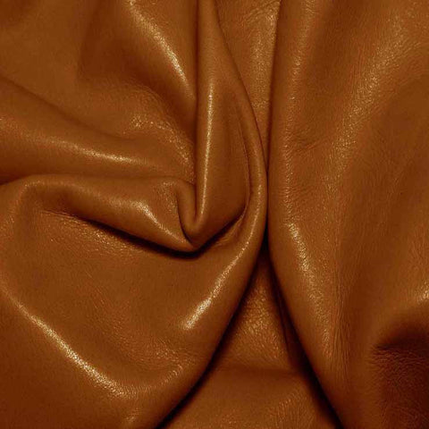 Aniline Calf Leather GC313 Cognac - NY Fashion Center Fabrics
