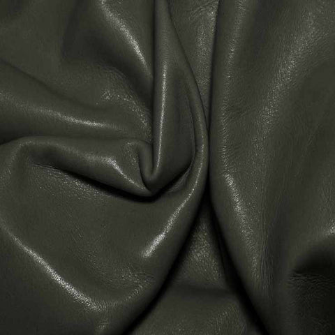 Aniline Calf Leather GC315 Charcoal - NY Fashion Center Fabrics