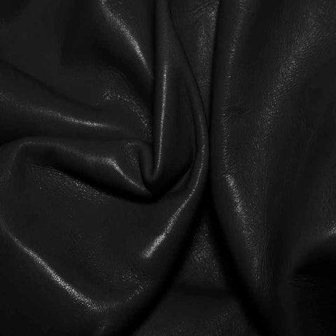 Aniline Calf Leather GC316 Black - NY Fashion Center Fabrics