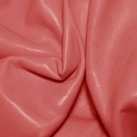 Aniline Calf Leather GC325 Coral - NY Fashion Center Fabrics