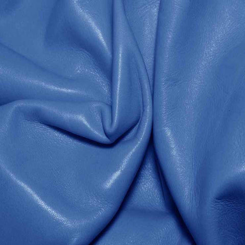 Aniline Calf Leather GC331 Blue - NY Fashion Center Fabrics