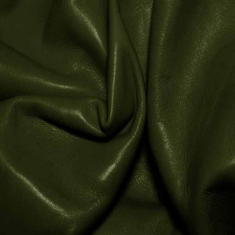 Aniline Calf Leather GC337 LightOlive - NY Fashion Center Fabrics
