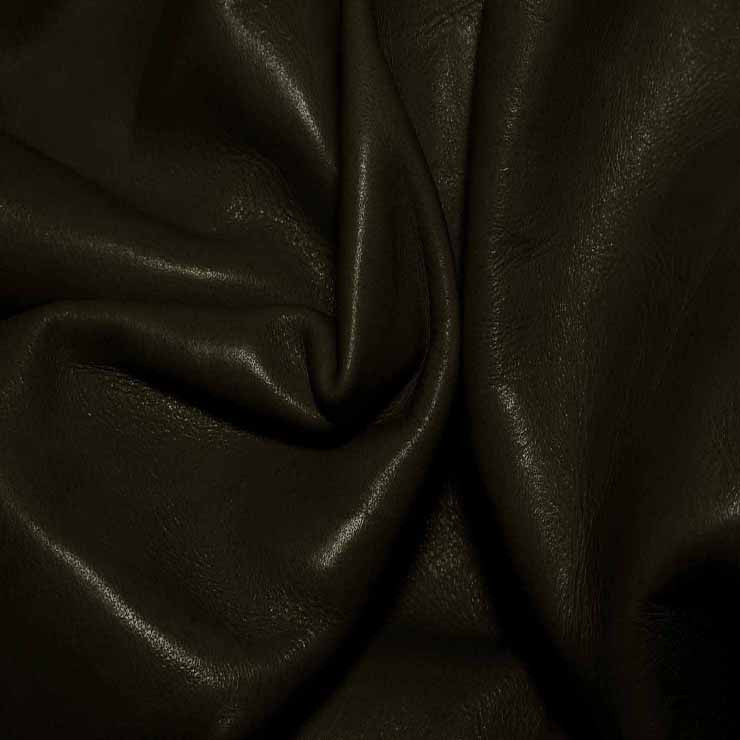 Aniline Calf Leather GC339 DarkOlive - NY Fashion Center Fabrics
