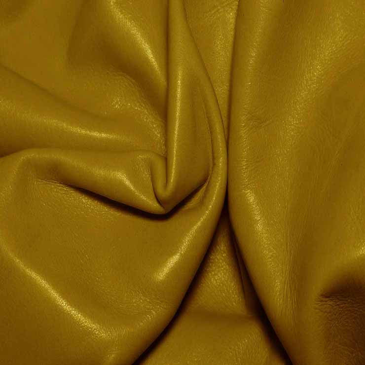 Aniline Calf Leather GC340 Mustard - NY Fashion Center Fabrics