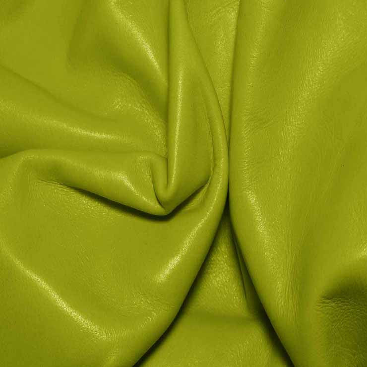 Aniline Calf Leather GC342 Citrus - NY Fashion Center Fabrics