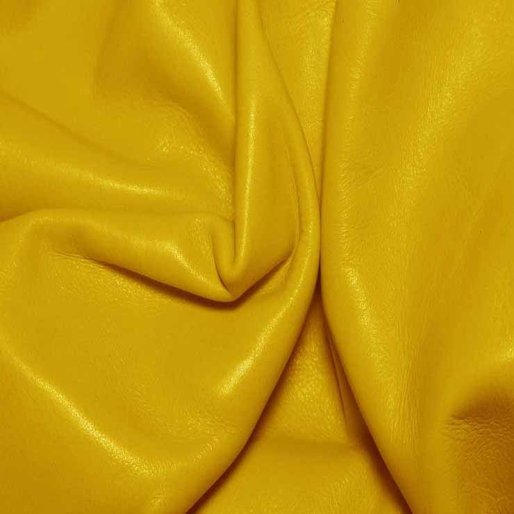 Aniline Calf Leather GC344 DangerYellow - NY Fashion Center Fabrics