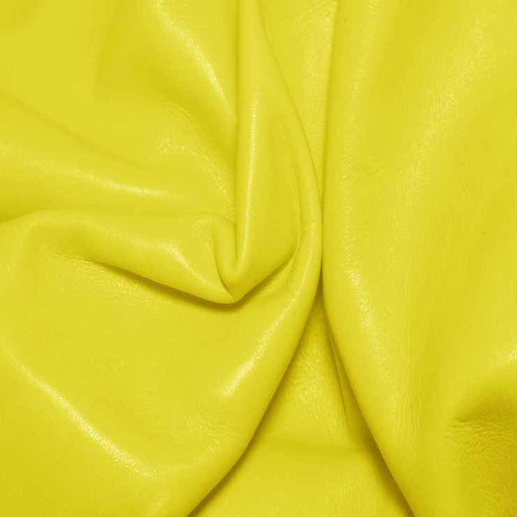 Aniline Calf Leather GC345 SunshineYellow - NY Fashion Center Fabrics