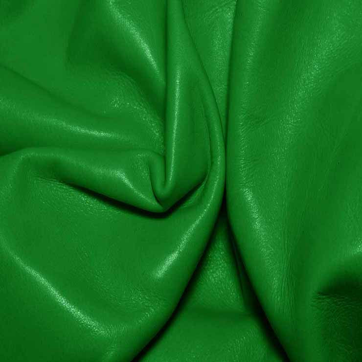 Aniline Calf Leather GC346 KellyGreen - NY Fashion Center Fabrics