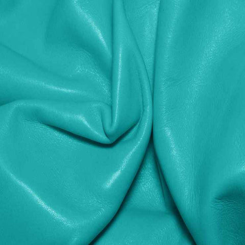 Aniline Calf Leather GC347 Aqua - NY Fashion Center Fabrics