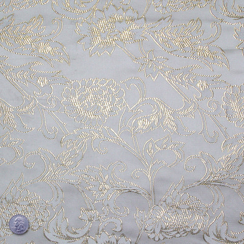 Floral Pop Brocade Gold - NY Fashion Center Fabrics