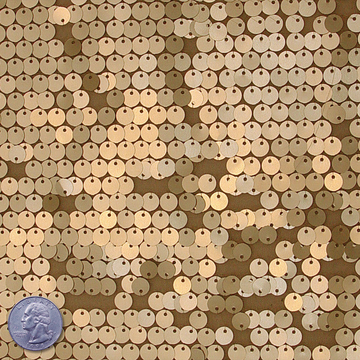 8mm Sequin Mesh Gold - NY Fashion Center Fabrics