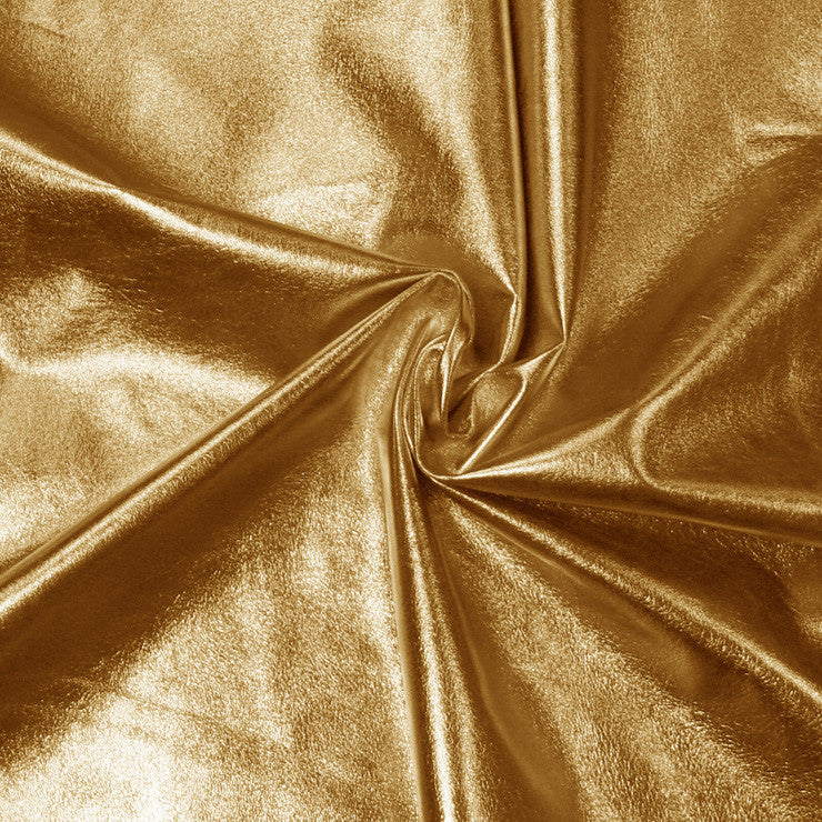 Metallic Lamb Leather Gold - NY Fashion Center Fabrics