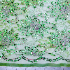 Sequins Versailles Lace Green