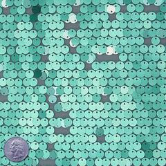 8mm Sequin Mesh Green - NY Fashion Center Fabrics