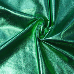 Metallic Lamb Leather Green - NY Fashion Center Fabrics