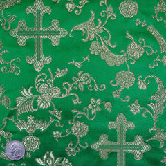 Silk Byzantine Brocade #1 Green