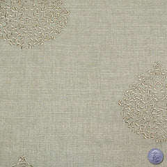 Polyester Embroidered Linen Look Grey