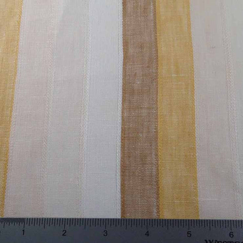 Multi Even Stripe Linen H 0726 Beige Gold - NY Fashion Center Fabrics