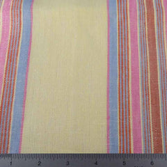 Multi Stripe Decor Linen H 7045 Lemon Pink - NY Fashion Center Fabrics