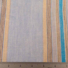 Multi Stripe Decor Linen H 7048 Blue Teal Tan - NY Fashion Center Fabrics