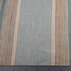 Multi Stripe Decor Linen H 7050 Sage Tan - NY Fashion Center Fabrics
