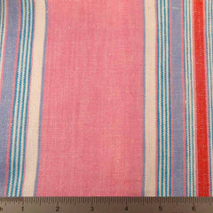 Multi Stripe Decor Linen H 7052 Pink Blue - NY Fashion Center Fabrics