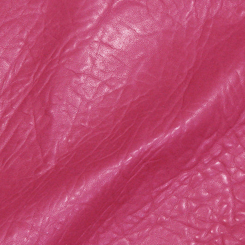 Bubble Lamb Leather Hot Pink - NY Fashion Center Fabrics